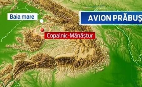 Un avion de mici dimensiuni s-a prabusit sambata in Maramures, cu doi barbati la bord. Pilotul a murit