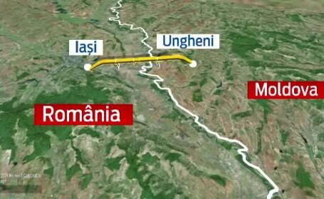 Victor Ponta si Iulie Leanca au inaugurat gazoductul Iasi-Ungheni. Premierul R. Moldova: \