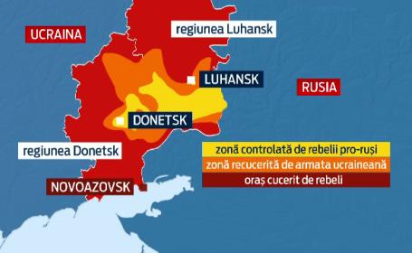 harta zona de conflict Ucraina