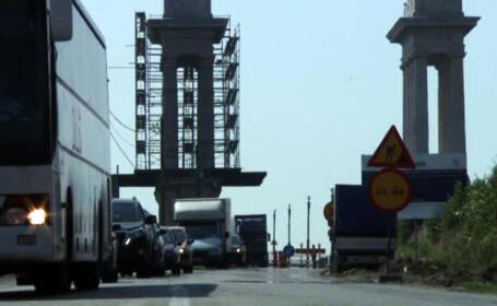coada pe podul de la Giurgiu