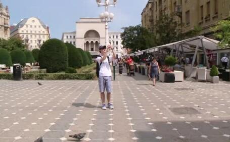 Care este unul dintre cele mai vizitate orase din Romania, de turistii straini. Un tanar a venit tocmai din Texas