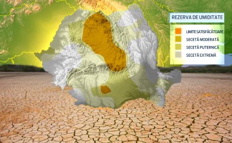 Harta secetei care duce agricultura romaneasca in pragul disperarii. Pamantul s-a crapat ca la cutremur, pagubele sunt uriase