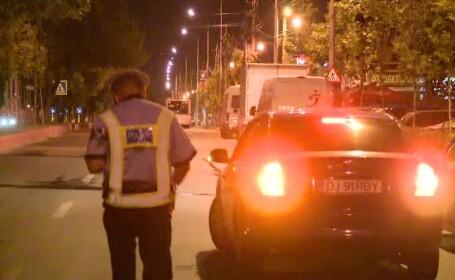 Taximetristi beti si soferi drogati, prinsi la o razie a politiei in Bucuresti. \