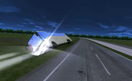 Filmul accidentului de pe Autostrada Soarelui, in care doua femei si-au pierdut viata si 48 de persoane au ajuns la spital