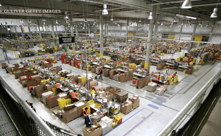 centrul logistic al Amazon
