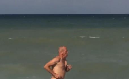 Oamenii nu si-au putut lua ochii de pe el. Cum a fost filmat un barbat pe plaja din Vama Veche