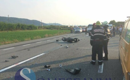 accident TIR motociclist