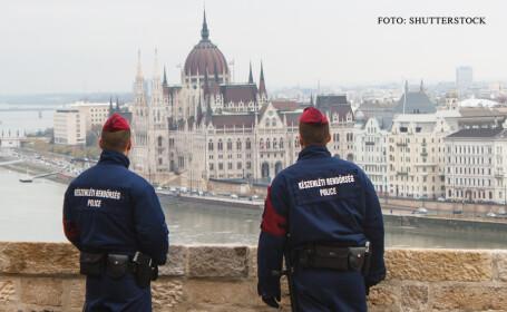 politisti maghiari in Budapesta