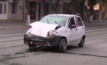 Accident in Capitala, dupa ce un tanar ar fi \
