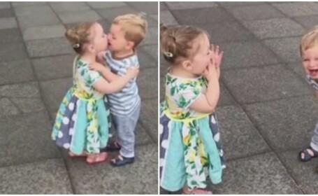 O fetita si un baietel s-au pupat de nenumarate ori, spre deliciul parintilor. Ce faceau apoi