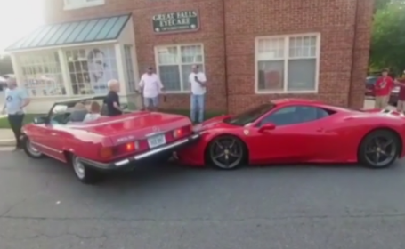 Ferrari avariat