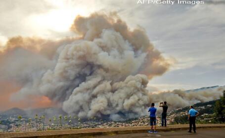 Incendiul de vegetatie din Madeira, Portugalia, fotografiat de cativa localnici