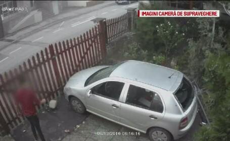 Pizzerie din Sibiu, vandalizata de un tanar de 18 ani. Camerele de supraveghere au surprins intregul incident