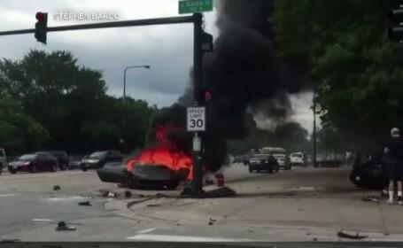 accident, incendiu, Lamborghini