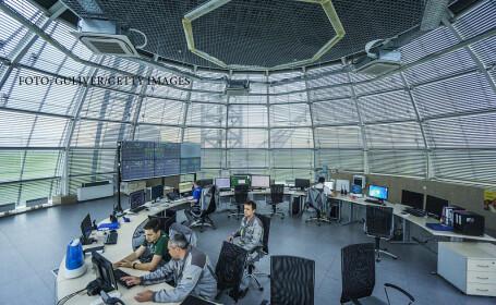 centru de comanda al unei centarel eoliene din Ucraina