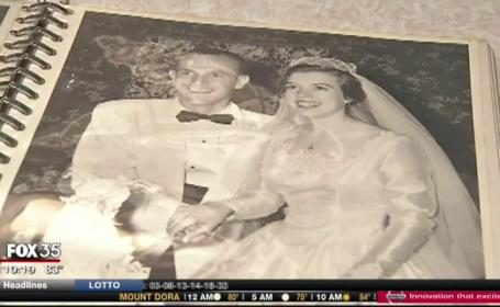 Si-au sarbatorit a 61-a aniversare a casatoriei cu o bucata din tortul de la nunta. Procedeul prin care a fost conservat