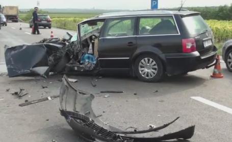 Accident surprins de camera de bord a unui TIR, in Suceava. Soferul vinovat a ajuns la spital cu rani grave