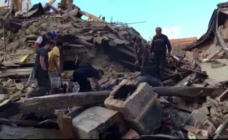Romanii din Italia, printre primii care au sarit sa ajute dupa cutremur: \