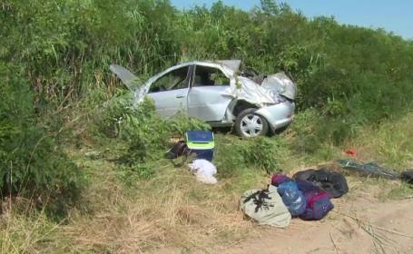 Accident autostrada Bucuresti-Pitesti.