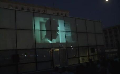 Cinema în aer liber, pe Casa Poporului