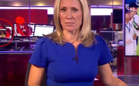 Gafă la postul britanic de televiziune BBC. Imagini necenzurate cu o femeie care se dezbracă
