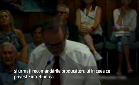 Bateria i-a explodat în poşetă, în timpul unei şedinţe a consiliului local