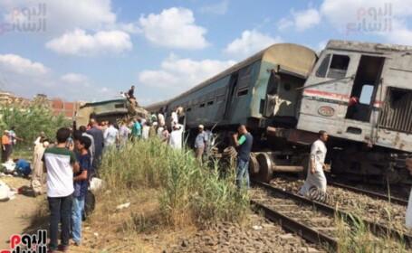 Tragedie în Egipt. 36 de oameni au murit, după ce două trenuri s-au ciocnit