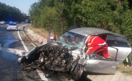 Accident pe DN65, în zona Pădurea Saru
