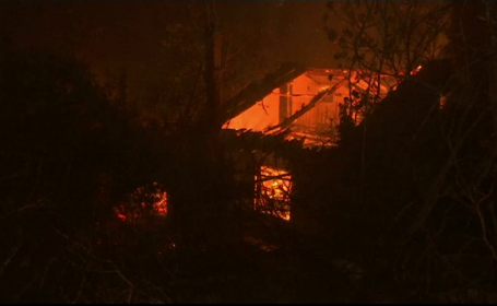 Oraș grecesc, amenințat de incendiile de padure. 20 de case au suferit pagube