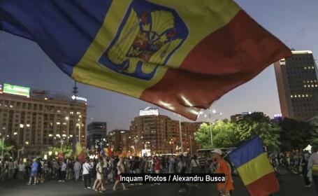 Proteste în Piața Victoriei față de modificările la legile Justiției