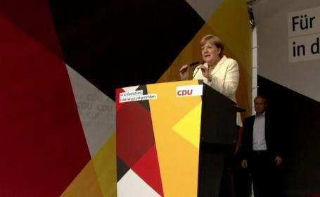 """Angela Merkel, huiduită în Germania: """"Du-te la musulmani"""""""
