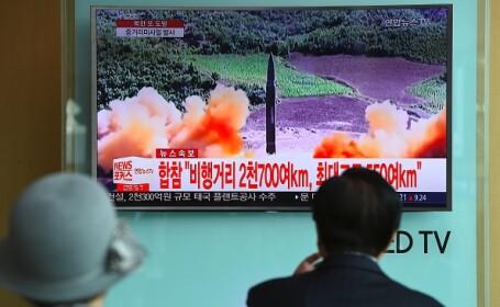 Rachetă nord-coreeană, lansată deasupra Japoniei
