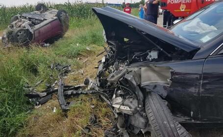 Accident grav produs în Suceava de un bărbat care venea din Italia, la câțiva kilometri de casă