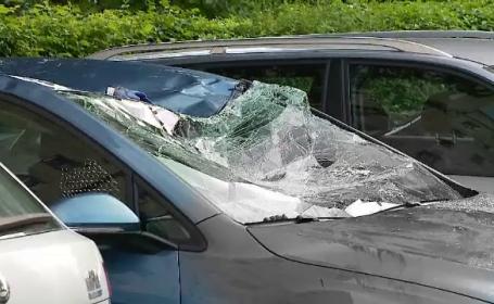 Un bărbat din Cluj a căzut de pe un bloc cu 8 etaje și a fost găsit pe o mașină. Ce spun martorii
