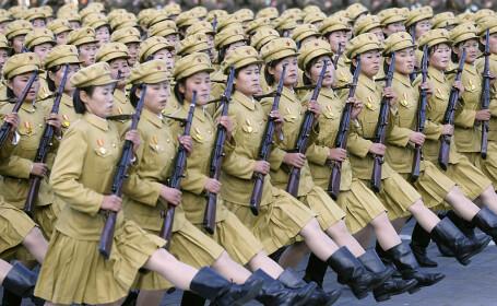femei-militar in Coreea de Nord