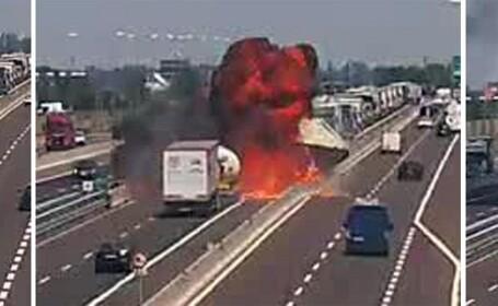 Filmul tragediei din Italia. Ultimele secunde dinaintea uriaşei explozii