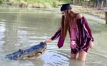 aligator, studenta, texas,