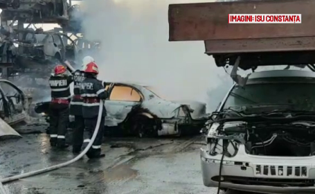 incendiu parc auto