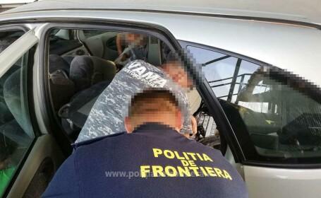 Țigări ascunse în podeaua unui autoturism, descoperite la PTF Halmeu