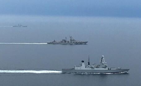 Nave de război ruseşti, escortate în Canalul Mânecii de flota britanică. Ce destinaţie au