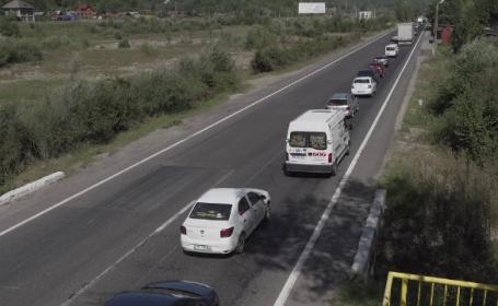 Șoferii de pe DN1, nervoși din cauza aglomerației:\