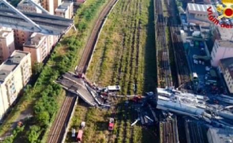 Accident Genova. Imagini filmate cu drona la o zi după tragedie. VIDEO