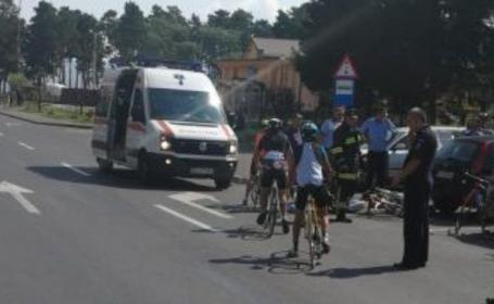 accident brasov, biciclisti,