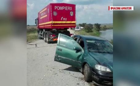 Femeie găsită moartă într-o mașină care a căzut în lac. De ce e considerat suspect soțul