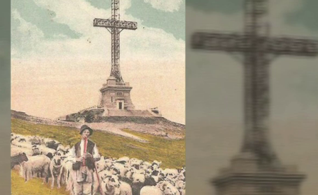 Crucea de pe Caraiman, restaurată să arate ca acum 90 de ani