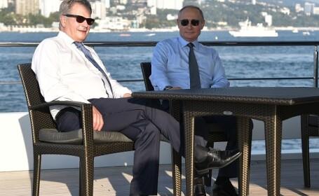 Putin s-a plimbat cu barca pe Marea Neagră împreună cu președintele Finlandei. VIDEO