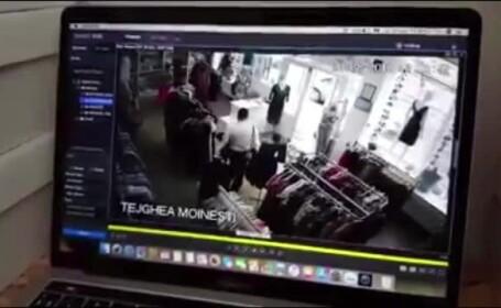 Un client a intrat într-un magazin de haine şi a furat telefonul vânzătoarei