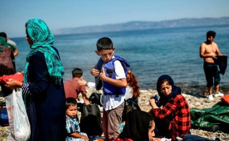 Migranti in insula Lesbos