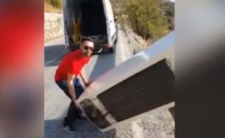 Lecția primită de un bărbat care și-a aruncat frigiderul într-o prăpastie