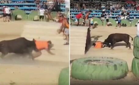 Festival încheiat tragic, în Spania. Un tânăr împuns de taur a sângerat până la moarte